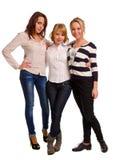 Drie mooie jonge vrouwen royalty-vrije stock afbeelding