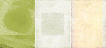 Drie mooie texturen als achtergrond Royalty-vrije Stock Foto's