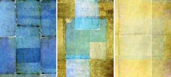 Drie mooie texturen als achtergrond Royalty-vrije Stock Afbeelding