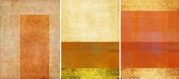 Drie mooie texturen als achtergrond Royalty-vrije Stock Afbeeldingen