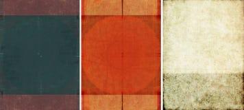 Drie mooie texturen als achtergrond Stock Fotografie