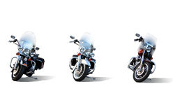 Drie Motorfietsen Stock Foto