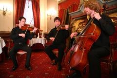 Drie musici Royalty-vrije Stock Foto