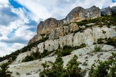 Drie niveaus van rotsen Stock Foto's