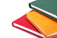 Drie notitieboekjes Royalty-vrije Stock Foto's