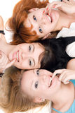Drie ongehoorzame vrouwen Royalty-vrije Stock Foto