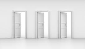 Drie open deuren royalty-vrije illustratie