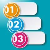 Drie Opties Paperlabels Stock Afbeeldingen