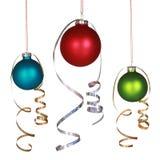 Drie ornamenten van Kerstmis vector illustratie