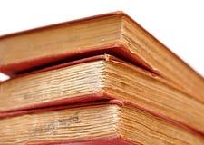 Drie oude boeken stock afbeelding