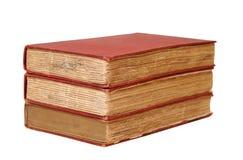 Drie oude boeken royalty-vrije stock fotografie