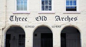 Drie Oude Bogen die, Chester bouwen stock afbeeldingen