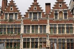 Drie oude huizen Royalty-vrije Stock Afbeeldingen