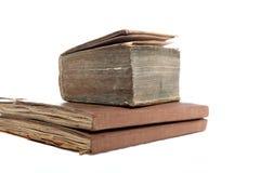 Oude uitstekende boeken Stock Foto