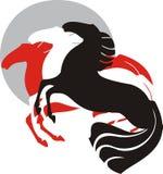 Drie paarden stock illustratie
