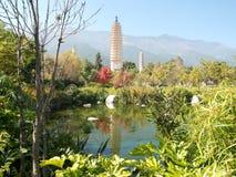Drie pagoden Dali, China Royalty-vrije Stock Foto