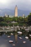 Drie Pagoden van Dali, Zhonghe, Yunnan Royalty-vrije Stock Foto's