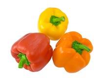 Drie paprika's Royalty-vrije Stock Afbeeldingen