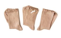 Drie paren sokken Royalty-vrije Stock Fotografie