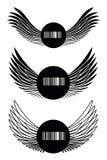 Drie patronen met vleugels Stock Foto