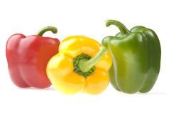 Drie peper Stock Afbeelding