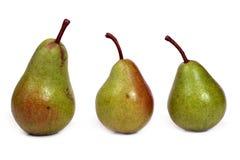 Drie peren Stock Afbeelding