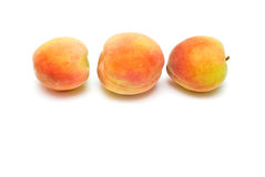 Drie perziken Stock Fotografie