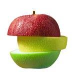 Drie plakken van appel Royalty-vrije Stock Afbeelding