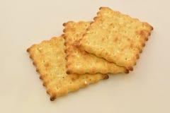 Drie plakken van koekjes stock afbeeldingen