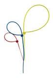 Drie Plastic geïsoleerde kabelbanden Royalty-vrije Stock Afbeelding