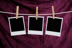 Drie Polaroid- Foto's Royalty-vrije Stock Foto