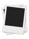 Drie polaroids Stock Foto's