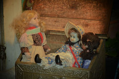 Drie poppen Stock Foto