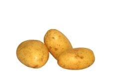 Drie potatos Royalty-vrije Stock Foto