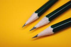 Drie potloden Royalty-vrije Stock Foto