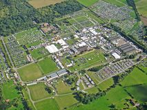 Drie Provincies Showground, Worcestershire stock afbeelding