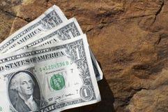 Drie Rekeningen van Één Dollar Royalty-vrije Stock Afbeelding