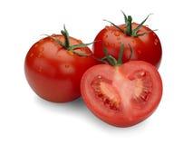 Drie rijpe tomaten. Royalty-vrije Stock Fotografie