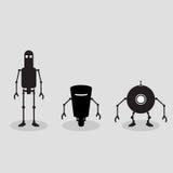 Drie robots Royalty-vrije Stock Foto