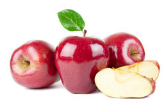Drie rode appelen Stock Afbeeldingen