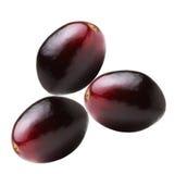 Drie rode druiven Royalty-vrije Stock Fotografie