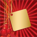 Drie rode Kerstmisbal Royalty-vrije Stock Fotografie