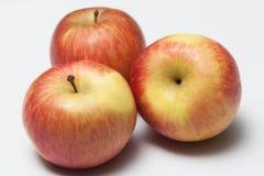 Drie rode Thaise appelen Stock Afbeeldingen