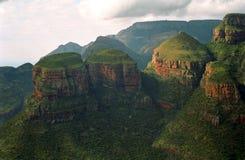 Drie rondavels, Blyde-Riviernatuurreservaat, Zuidafrikaans R Royalty-vrije Stock Afbeelding