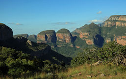 Drie Rondavels in Mpumalanga Stock Foto