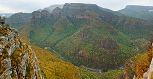 Drie Rondavels, Zuid-Afrika Stock Fotografie