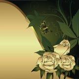 Drie rozen Stock Afbeelding
