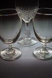 Drie rustige glazen Stock Afbeeldingen