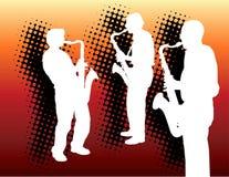 Drie saxofoonspelers royalty-vrije illustratie