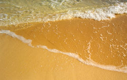 Drie schaduwen van het overzees en het strand Royalty-vrije Stock Foto's